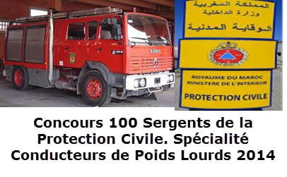 100 Sergents de la Protection Civile. Spécialité Conducteurs de Poids Lourds