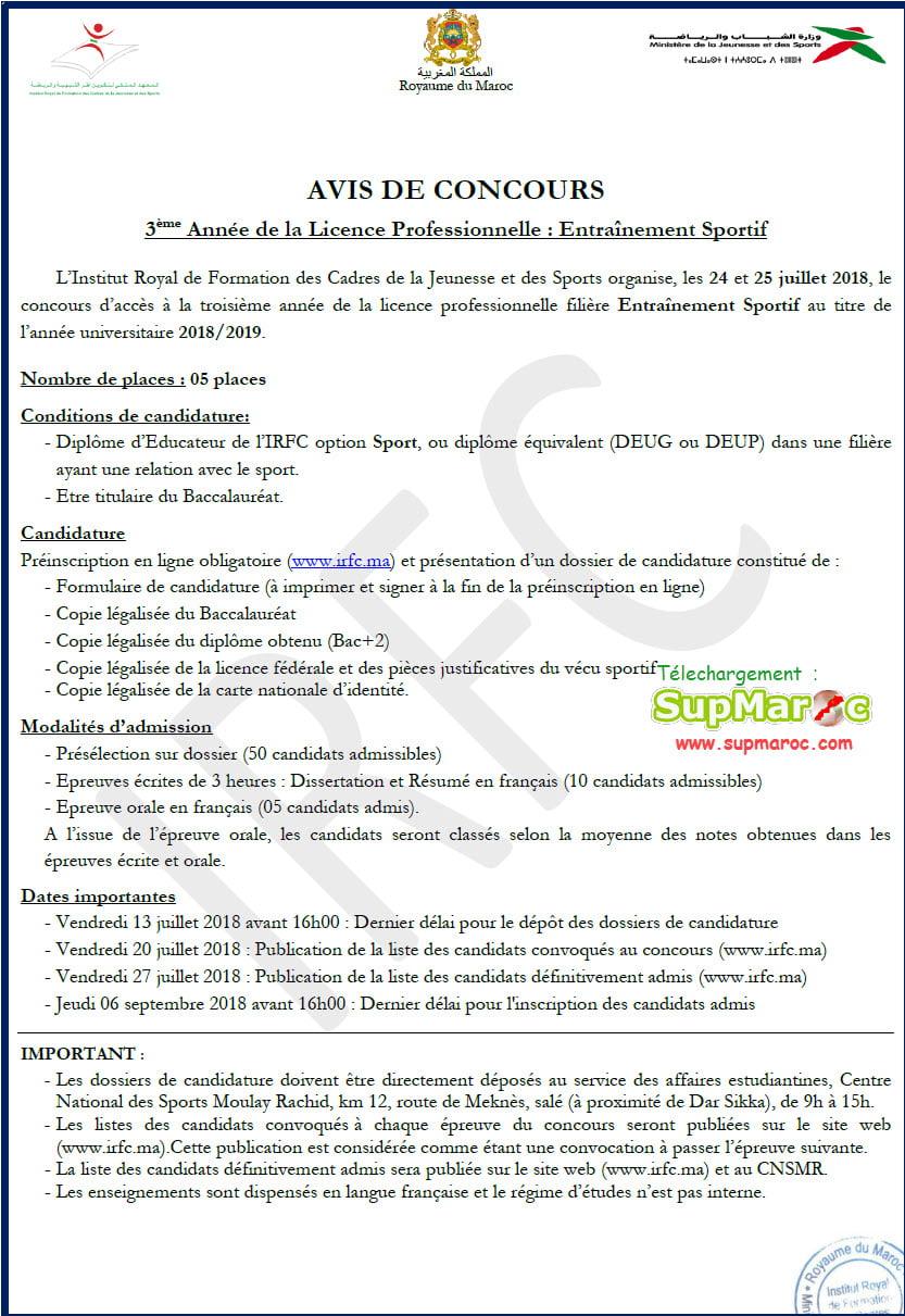 irfc lp3 licences professionnelles 3eme 2018