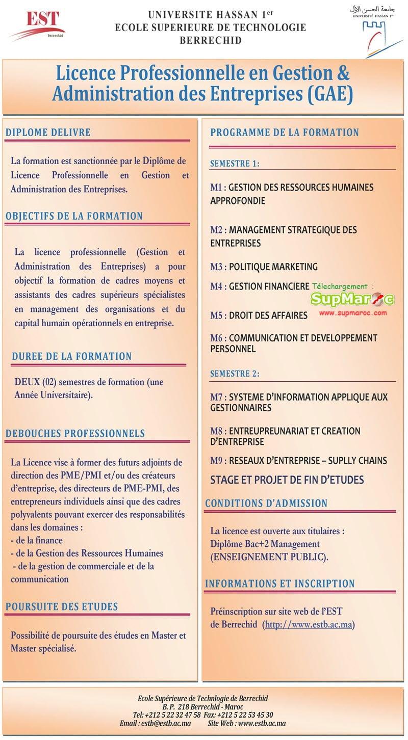 Gestion et Administration des Entreprises (GAE)