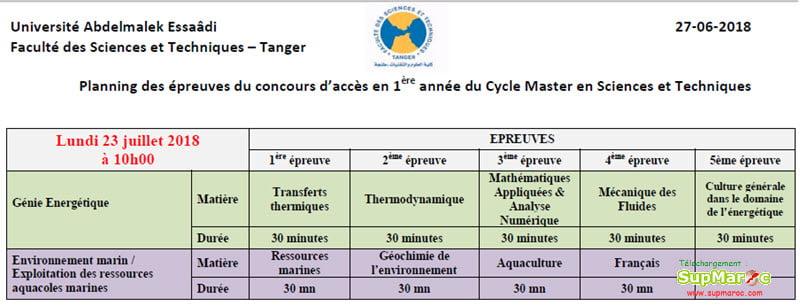 FST Tanger master