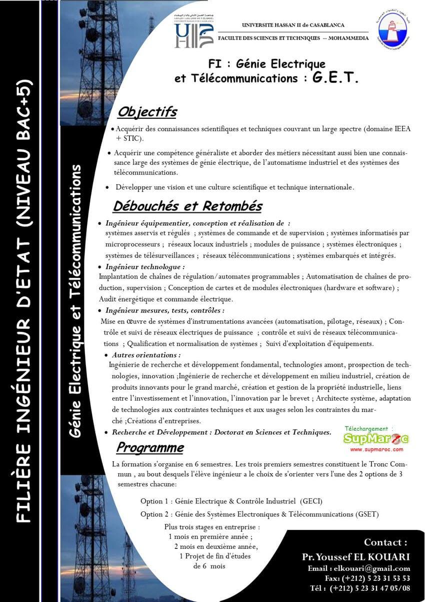 Génie Eléctrique et Télécommunications (GET)