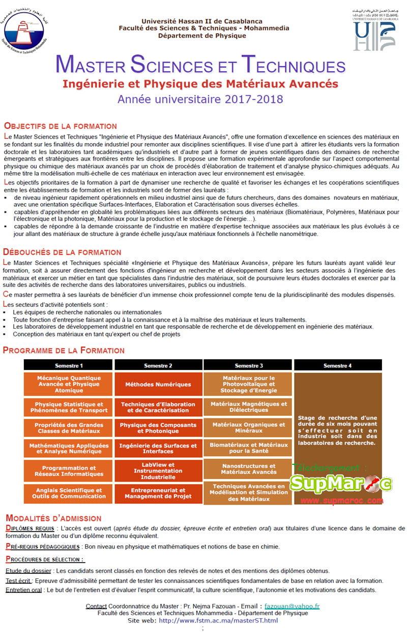 Ingénierie et Physique des Matériaux Avancés (IPMA)
