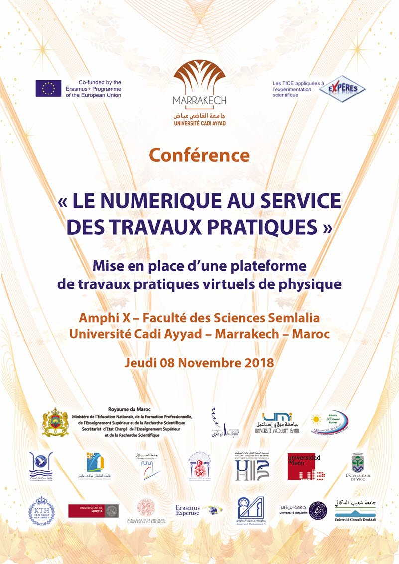 Les e-Travaux pratiques au service de l'enseignement supérieur au Maroc FSSM Université Cadi Ayyad 2018