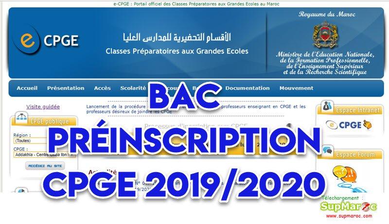 Calendrier Concours Cpge 2019.Bac Preinscription Cpge 2019 2020 Supmaroc
