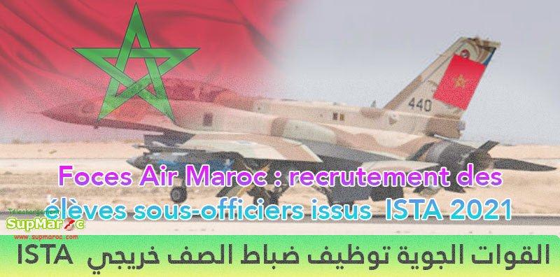 Recrutement Forces Royales Air Sous officiers ISTA 2021