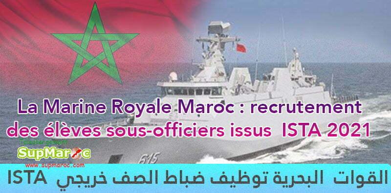 Recrutement Marine Royale Sous officiers ISTA 2021