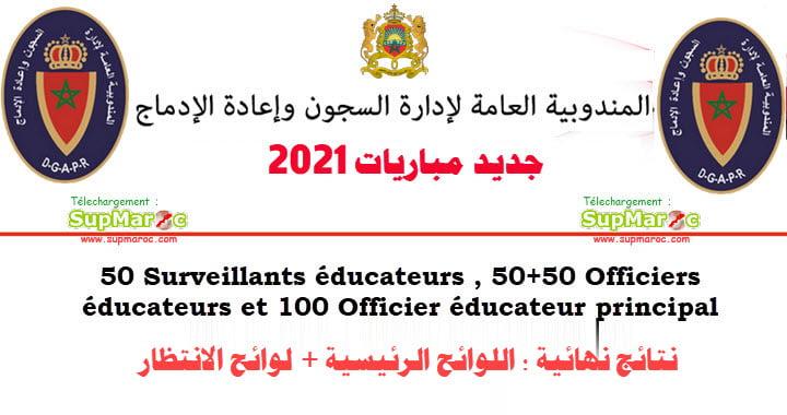 Résultats Concours administration pénitentiaire 2021