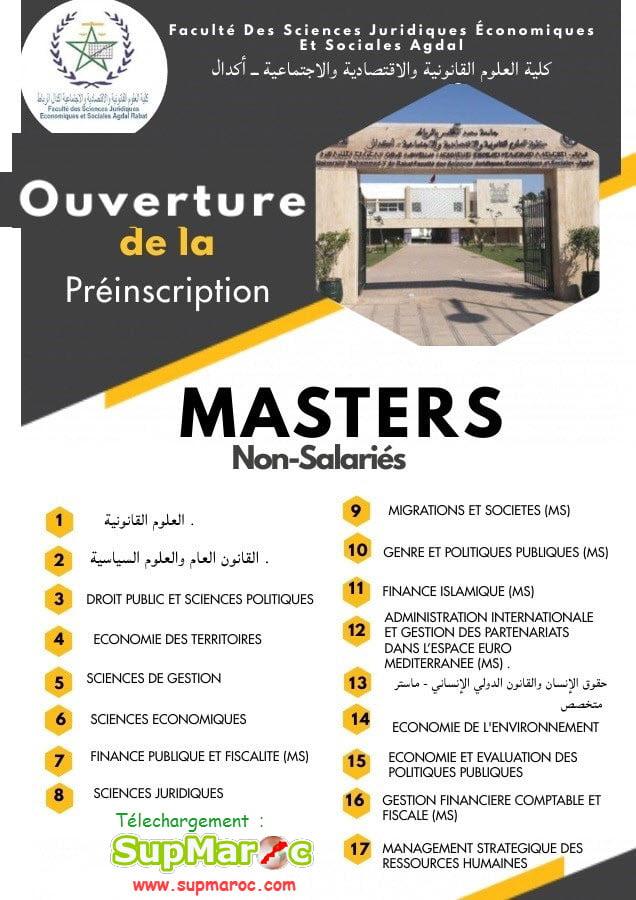 FSJES Agdal  Master et Master spécialisé 2021 -2022