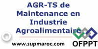 AGR-TS de Maintenance en Industrie Agroalimentaire