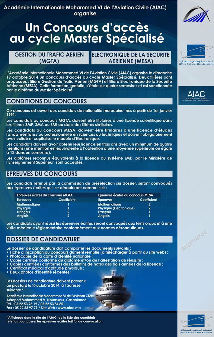 AIAC Concours-Master-2014