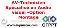 AV-Technicien Spécialisé en Audio visuel -Option Montage