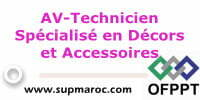 AV-Technicien Spécialisé en Décors et Accessoires