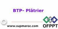 Spécialisation: Plâtrier Formation OFPPT