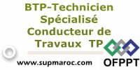 ISTA:Technicien Spécialisé Conducteur de Travaux TP
