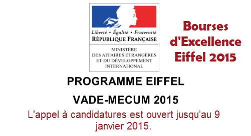 Bourses d'Excellence Eiffel 2015