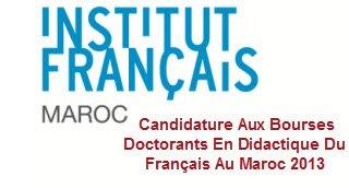 Candidature Aux Bourses Doctorants En Didactique Du Français 2013