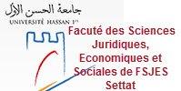 Facuté des Sciences Juridiques, Economiques et Sociales de Settat  FSJES