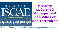 ISCAE Master spécialisé Management des Villes et des Territoires