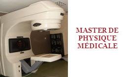 Master de Physique Médicale