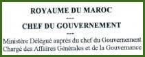 Ministère chargé des affaires générales et de la gouvernance