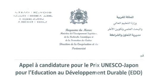 Prix UNESCO-Japon pour l'Education au Développement Durable (EDD)