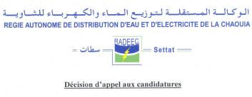 Régie Autonome de Distribution d'Eau et d'Electricité de Chaouia