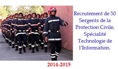Recrutement de 50 Sergents de la Protection Civile, Spécialité Technologie de l'Information.