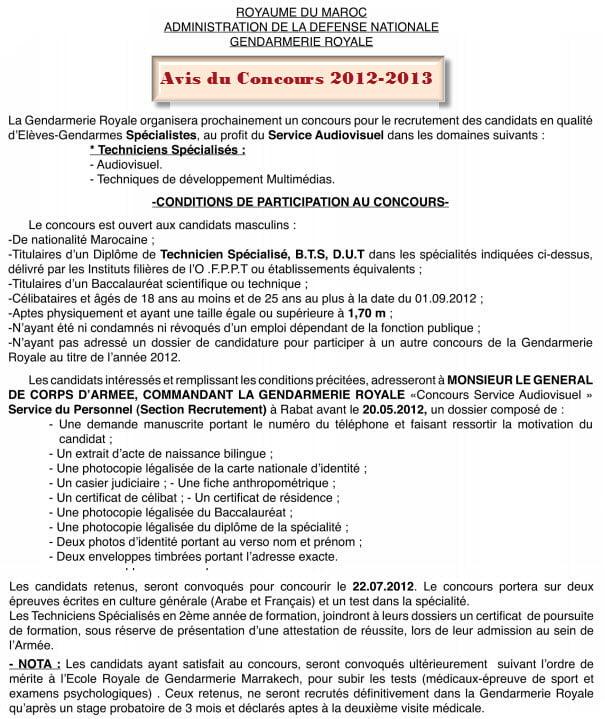 gendarme spésialiste audiovisuel