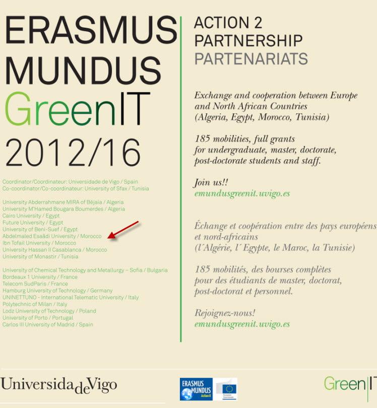 bourses Ersamus Mundus GreenIT