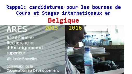 rappel candidatures pour les bourses de cours et stages internationaux en belgique pour 2015. Black Bedroom Furniture Sets. Home Design Ideas