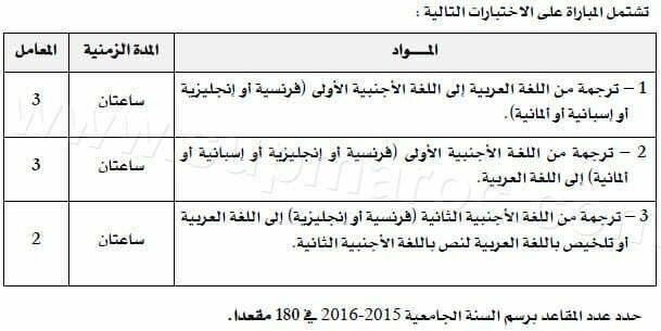 concours ESRFT fahd traduction tanger