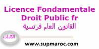 Licence droit Public en français