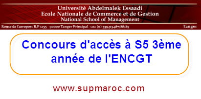 ENCG Tanger Concours d'Admission en3 année