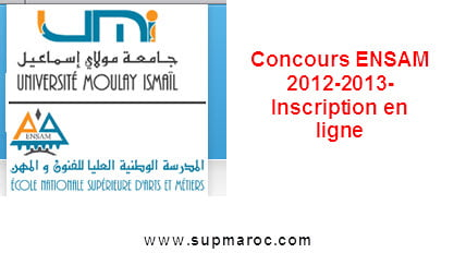 Concours d'admission en 1ère année de l'ENSAM-Meknès et cycle ingénieur