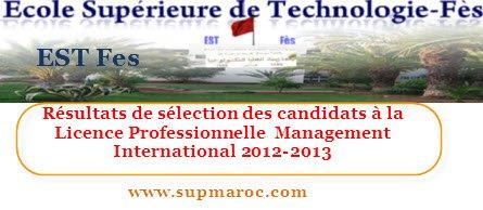 Licence professionnelle  Management International
