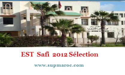 EST Safi Résultats Sélection 2012-2013