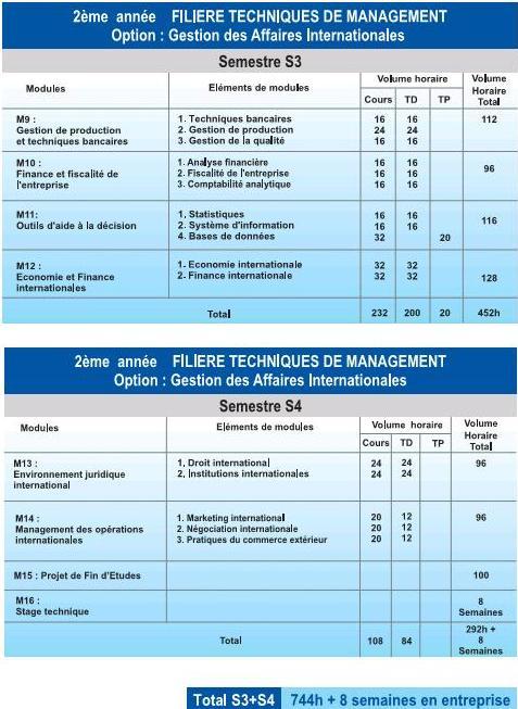 EST DUT Filière Techniques de Management (TM)