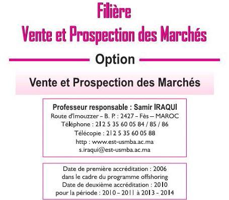 EST Vente et Prospection des Marchés (VPM)