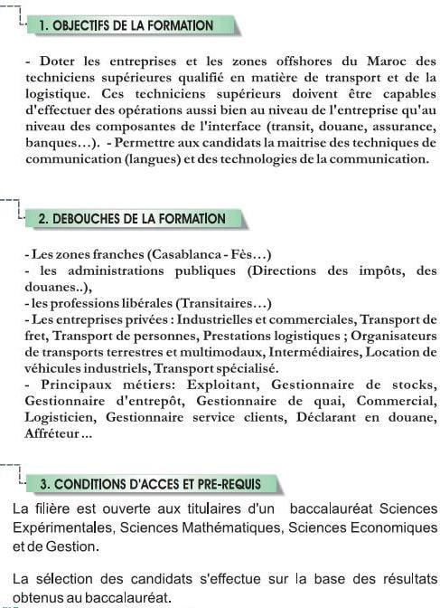 EST Gestion Logistique et Transport (GLT)