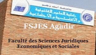 Faculté des Sciences Juridiques  Economiques et Sociales