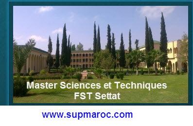 Master Sciences et Techniques