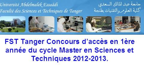 FST Master 2012-2013