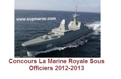Concours La Marine Royale Sous Officiers 2012-2013
