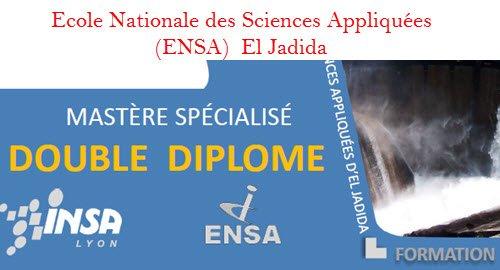 mastère spécialisé en double diplôme avec l'INSA de Lyon ENSA el jadida