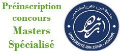 universite ibn zouhr master specialise