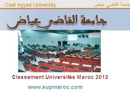 classement des universités marocaines 2012